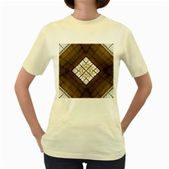 Steel Glass Roof Architecture Women s Yellow T-Shirt