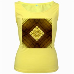 Steel Glass Roof Architecture Women s Yellow Tank Top