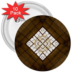 Steel Glass Roof Architecture 3  Buttons (10 Pack)