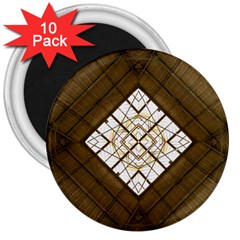 Steel Glass Roof Architecture 3  Magnets (10 pack)