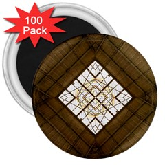 Steel Glass Roof Architecture 3  Magnets (100 pack)