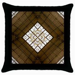 Steel Glass Roof Architecture Throw Pillow Case (Black)