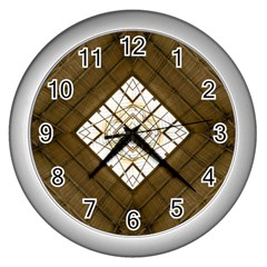 Steel Glass Roof Architecture Wall Clocks (Silver)