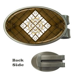 Steel Glass Roof Architecture Money Clips (oval)