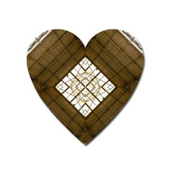 Steel Glass Roof Architecture Heart Magnet