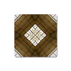 Steel Glass Roof Architecture Square Magnet