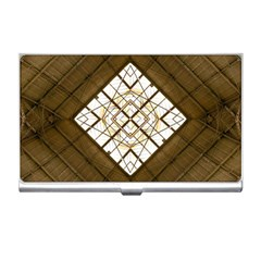 Steel Glass Roof Architecture Business Card Holders