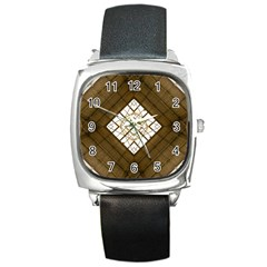 Steel Glass Roof Architecture Square Metal Watch