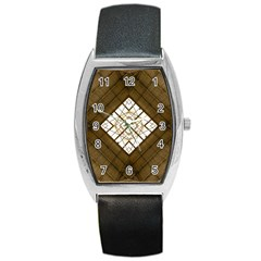 Steel Glass Roof Architecture Barrel Style Metal Watch