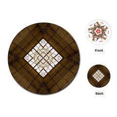 Steel Glass Roof Architecture Playing Cards (round)