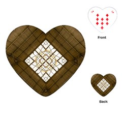 Steel Glass Roof Architecture Playing Cards (heart)