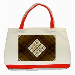 Steel Glass Roof Architecture Classic Tote Bag (Red)