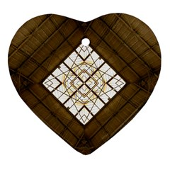 Steel Glass Roof Architecture Heart Ornament (Two Sides)