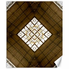 Steel Glass Roof Architecture Canvas 8  x 10