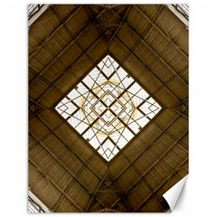 Steel Glass Roof Architecture Canvas 12  x 16