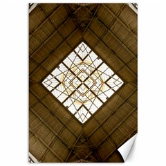 Steel Glass Roof Architecture Canvas 12  x 18