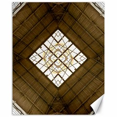 Steel Glass Roof Architecture Canvas 16  X 20