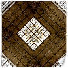Steel Glass Roof Architecture Canvas 20  X 20