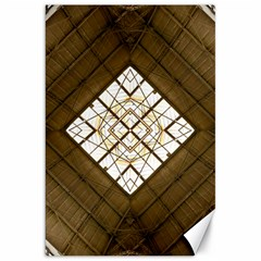Steel Glass Roof Architecture Canvas 20  x 30