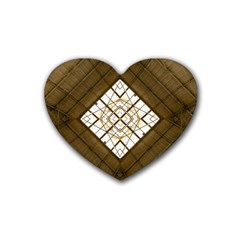 Steel Glass Roof Architecture Rubber Coaster (Heart)