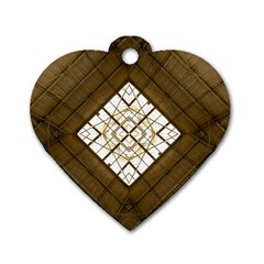 Steel Glass Roof Architecture Dog Tag Heart (one Side)