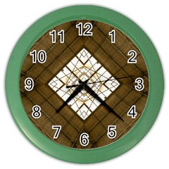 Steel Glass Roof Architecture Color Wall Clocks