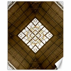 Steel Glass Roof Architecture Canvas 11  x 14
