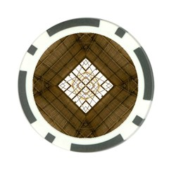 Steel Glass Roof Architecture Poker Chip Card Guard
