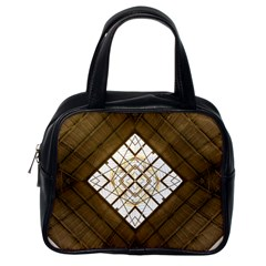Steel Glass Roof Architecture Classic Handbags (one Side)