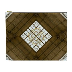 Steel Glass Roof Architecture Cosmetic Bag (xl)