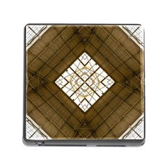 Steel Glass Roof Architecture Memory Card Reader (Square)
