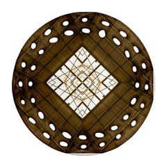 Steel Glass Roof Architecture Round Filigree Ornament (Two Sides)