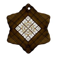 Steel Glass Roof Architecture Snowflake Ornament (two Sides)