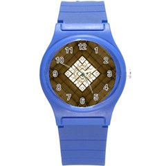 Steel Glass Roof Architecture Round Plastic Sport Watch (s)
