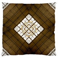 Steel Glass Roof Architecture Large Cushion Case (one Side)