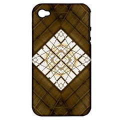 Steel Glass Roof Architecture Apple Iphone 4/4s Hardshell Case (pc+silicone)