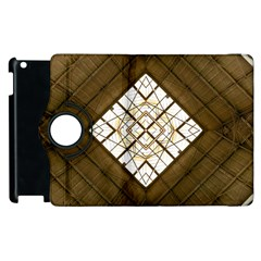 Steel Glass Roof Architecture Apple iPad 3/4 Flip 360 Case