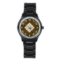Steel Glass Roof Architecture Stainless Steel Round Watch