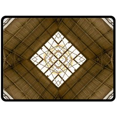Steel Glass Roof Architecture Double Sided Fleece Blanket (Large)