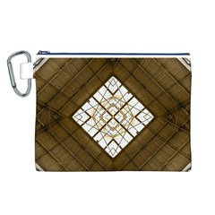 Steel Glass Roof Architecture Canvas Cosmetic Bag (l)