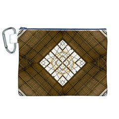 Steel Glass Roof Architecture Canvas Cosmetic Bag (xl)