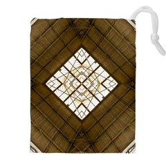 Steel Glass Roof Architecture Drawstring Pouches (XXL)