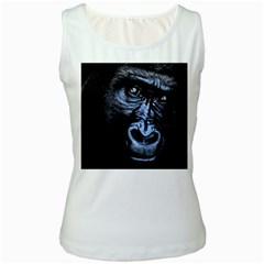 Gorilla Women s White Tank Top