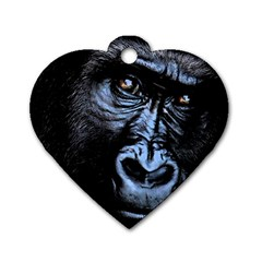 Gorilla Dog Tag Heart (Two Sides)