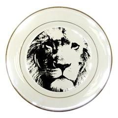 Lion  Porcelain Plates