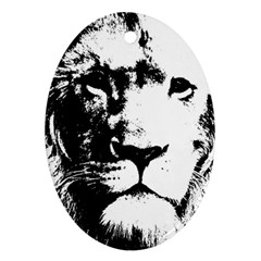 Lion  Oval Ornament (Two Sides)