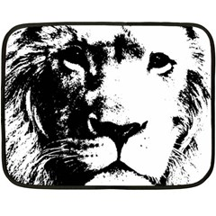 Lion  Double Sided Fleece Blanket (Mini)