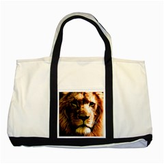 Lion  Two Tone Tote Bag