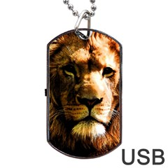 Lion  Dog Tag USB Flash (Two Sides)