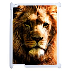 Lion  Apple iPad 2 Case (White)